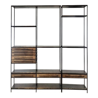 Regina Andrew Industrial Modern Baxter Two Piece Etagere-A Pair For Sale