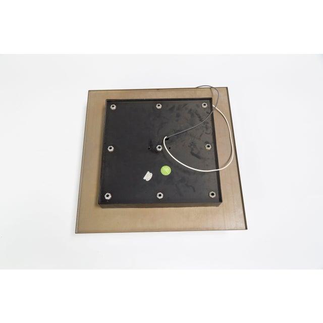 Lightolier Glass Blocks 9-Light Flush Mount For Sale - Image 11 of 13