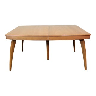 Mid-Century Modern Heywood Wakefield Champagne Extendable Dining Table For Sale