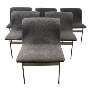 Set of Six Saporiti Italia Giovanni Offredi Wave Dining Chairs For Sale