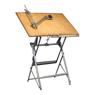 Danish Midcentury Architect Drafting Table by Nordisk Tegnemaskine Fabrik
