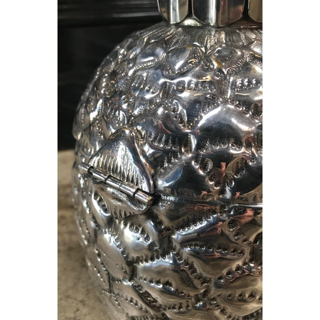 Silver Plated Pineapple Ice Bucket Made in Florence, Italy by Teghini For Sale - Image 10 of 13