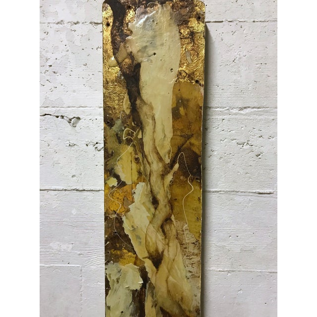 """Abstract """"White Root"""" Abstract Expressionist Painting by David Geiser For Sale - Image 3 of 13"""