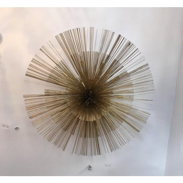 Curtis Jere Brass Nest Flush Light Chandelier For Sale In New York - Image 6 of 8