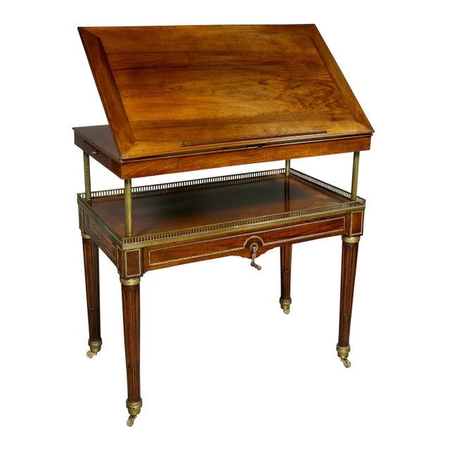 Louis XVI Walnut Architects Table a La Tronchin For Sale - Image 13 of 13