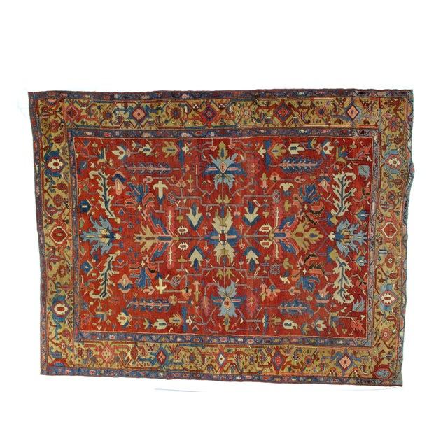 "Leon Banilivi Antique Persian Serapi Carpet - 9"" X 11'7"" For Sale In New York - Image 6 of 6"