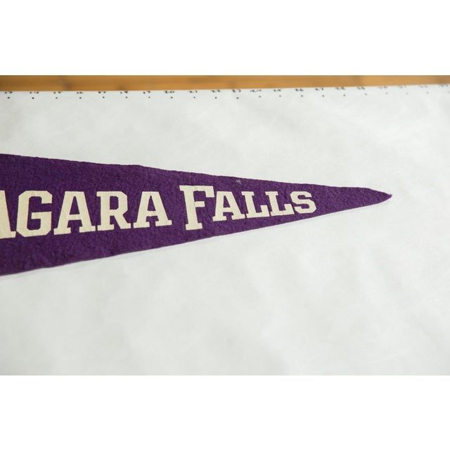 Old New House Vintage Niagara Falls Felt Flag Pennant For Sale - Image 4 of 5