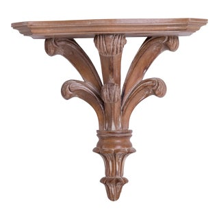 Madcap Cottage Prince of Wales Feathered Wood Wall Bracket For Sale