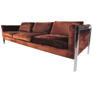 Mid-Century Modern Sofa in the Style of Milo Baughman For Sale