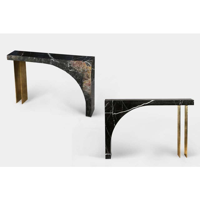 Found II Console Table No.2 in Black Marble by a Space For Sale - Image 4 of 5