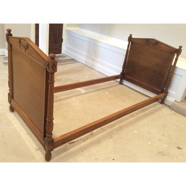 19th Century French Empire Walnut Bedframe For Sale - Image 13 of 13