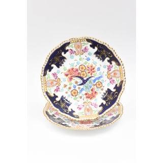 Six Antique English Imari Plates, Vibrant Colors, Hand Painted Preview