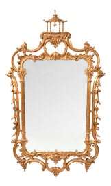 Image of Giltwood Mantel and Fireplace Mirrors