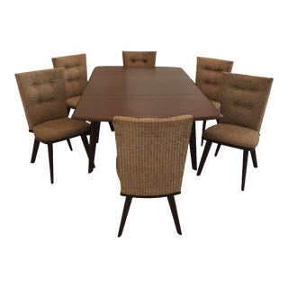 Mid-Century Modern Carl Bissman Walnut Dining Set - 7 Pieces For Sale