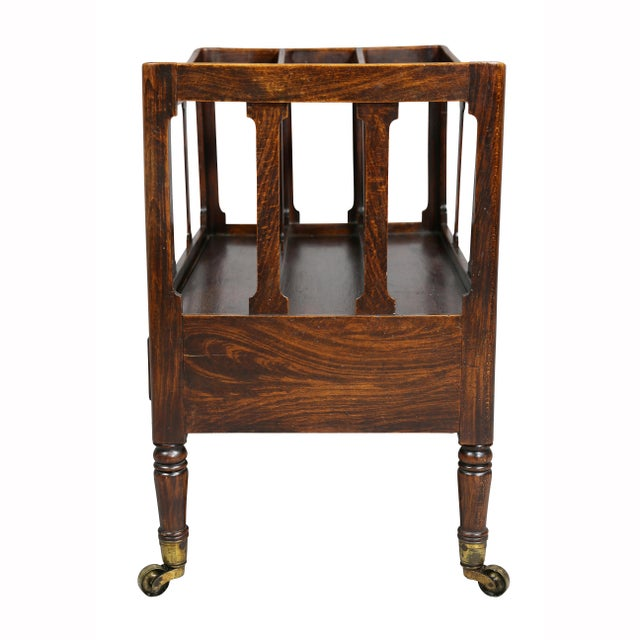 Metal Regency Rosewood and Faux Rosewood Canterbury For Sale - Image 7 of 9