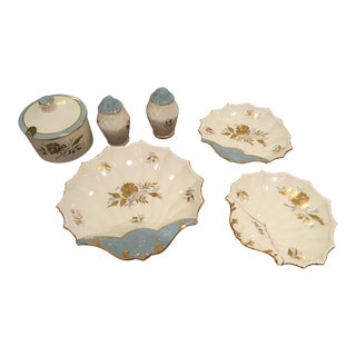 "Aynsley Bone China ""Golden Grace"" Dish Set - 6 Pc."