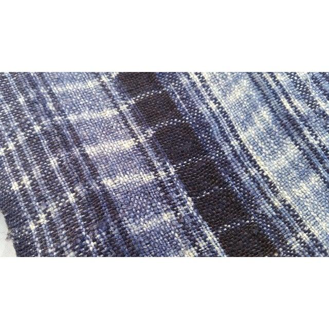 Homespun Tie Dye Indigo Doorway Drapes - A Pair - Image 4 of 5