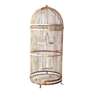 Victorian Large Iron Bird Cage For Sale