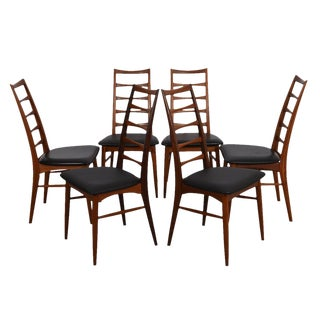 Set of 6 Danish Modern Dining Chairs in Teak by Koefoeds Hornslet