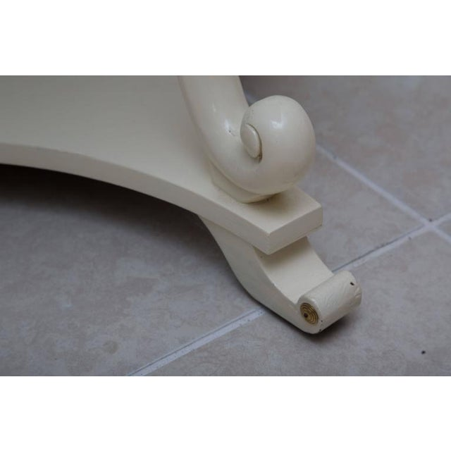 Pair of White Painted Empire Style End Tables - Image 6 of 7