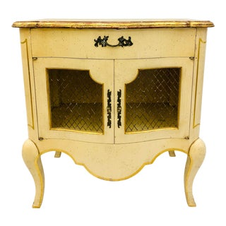 Vintage French Provincial Side Table Chest For Sale