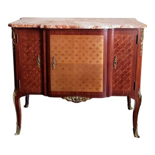 Incredible French Transition Louis XV/XVI Style Mahogany Sideboard Server Commode For Sale