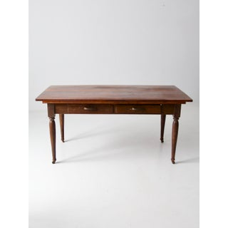 Antique Wooden Table With Drawers Preview