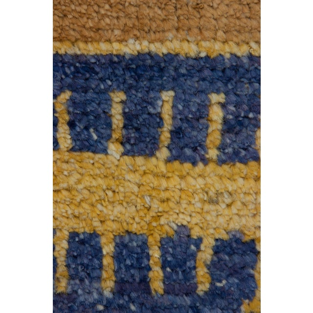"""New Moroccan Hand Knotted Area Rug - 4' x 5'10"""" - Image 3 of 3"""