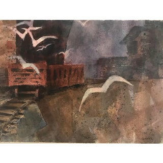 1970s Industrial Watercolor For Sale