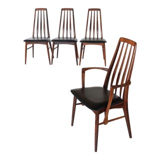 "Vintage Mid Century Niels Koefoed Rosewood ""Eva"" Dining Chairs- Set of 4 For Sale"