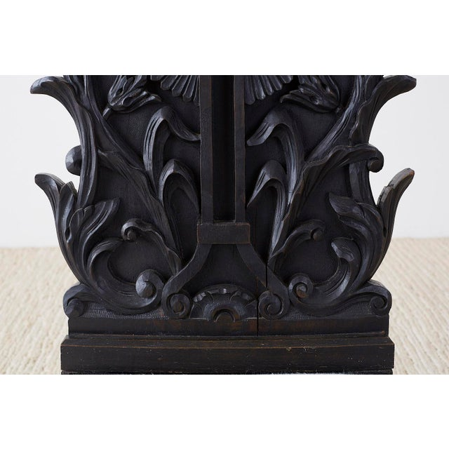 19th Century French Napoleon III Oak Prie-Dieu Prayer Chair For Sale - Image 5 of 13