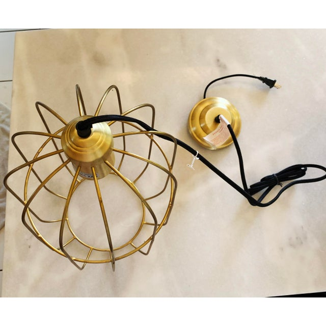 2010s Brass Caged Dome Pendant Lights by Kalalou For Sale - Image 5 of 13