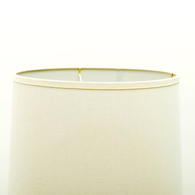 1960s California Studio Ceramic Drip-Glaze Floor Lamp With Teak Table For Sale In Santa Fe - Image 6 of 10