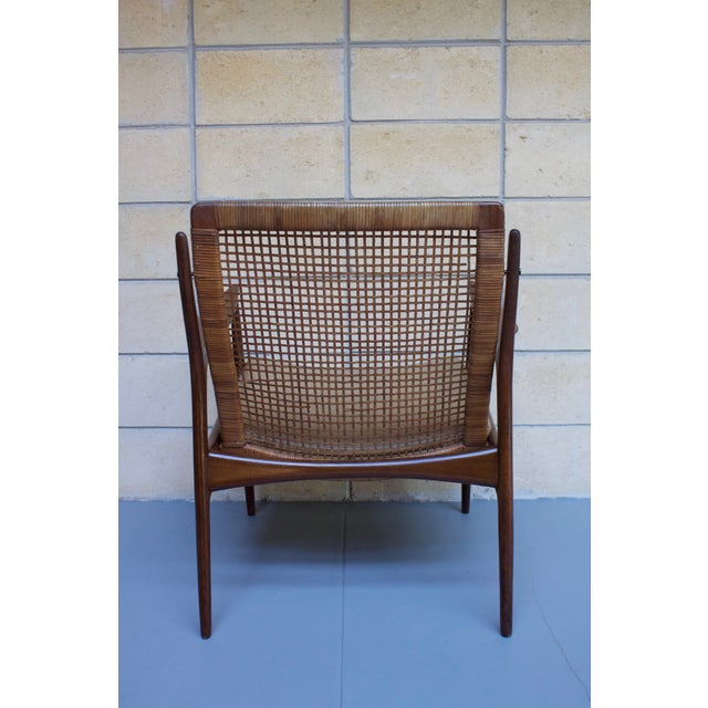 Kofod Larsen Cane Back Lounge Chair For Sale - Image 10 of 11