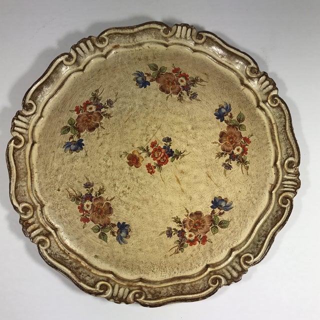 Vintage Italian Venetian Floral Tray - Image 9 of 9