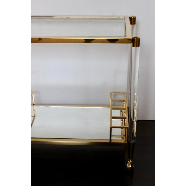 Late 20th Century Vintage Hollywood Regency Lucite Bar Cart For Sale - Image 5 of 6
