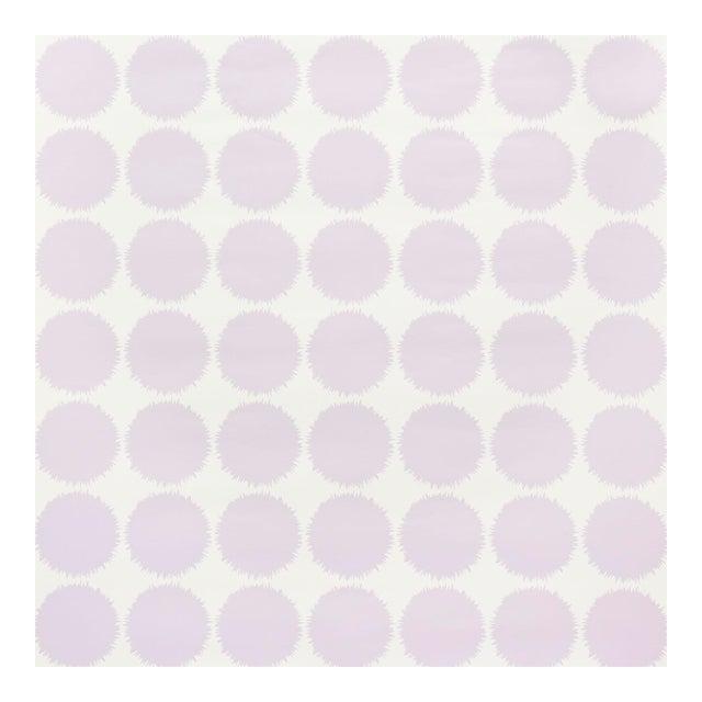 Schumacher Fuzz Wallpaper in Lavender For Sale