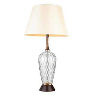 Vintage Mid Century Modern Glass Bubble Table Lamp For Sale