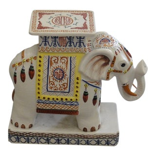 Moroccan Inspired Elephant Garden Seat For Sale