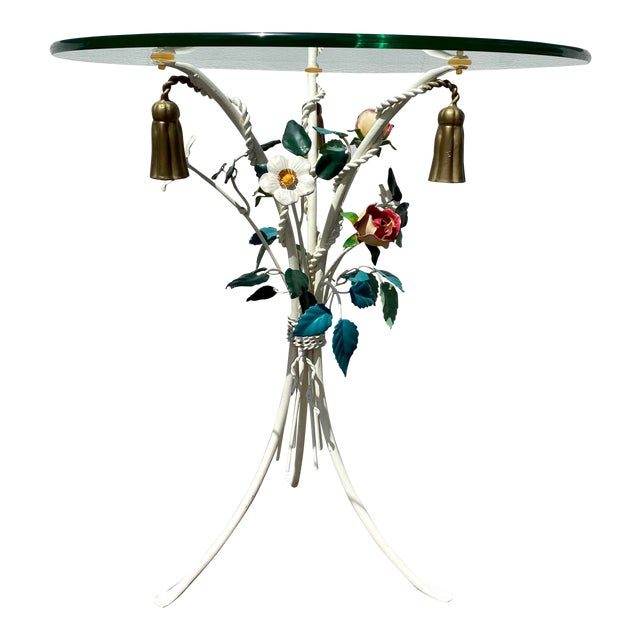 Italian Tole Accent Table For Sale