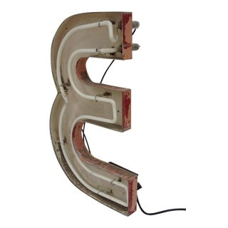 "Vintage Neon Diner Sign, Letter ""E"" For Sale"