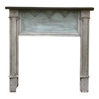 Early 20th Century Antique Carved Wood Mantel For Sale