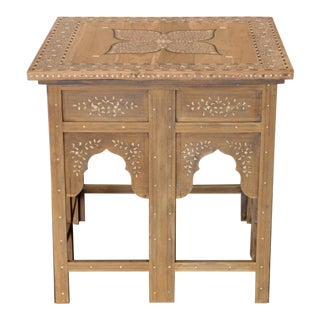 Antique Anglo Indian Square Side Table For Sale