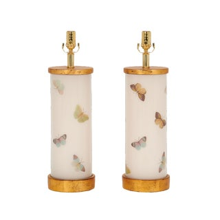 Oh So Pretty Flutter Lamps by Liz Marsh - a Pair For Sale