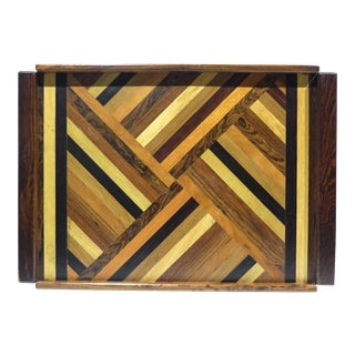 Large Don Shoemaker Marquetry Tray For Sale