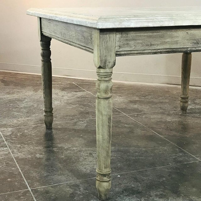 19th Century French Rustic Limestone Top Game Table - Center Table For Sale In Baton Rouge - Image 6 of 12