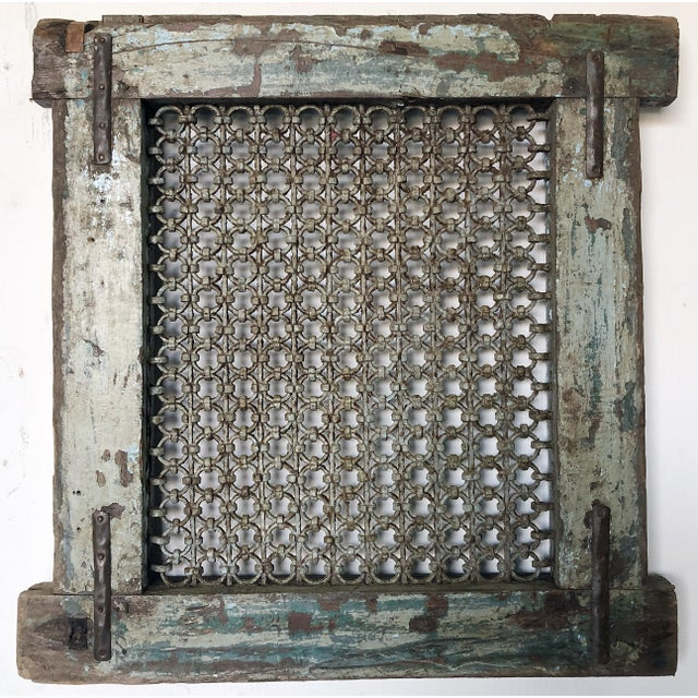 Antique Wood & Iron Ventilation Window For Sale In Los Angeles - Image 6 of 6