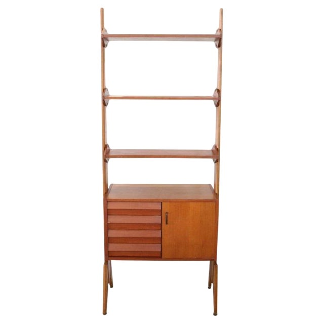 20th Century Italian Vintage Design Bookcase, 1970s For Sale