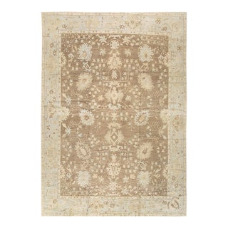 Pasargad Home Oushak Lamb's Wool Area Rug - 13′2″ × 18′1″ For Sale