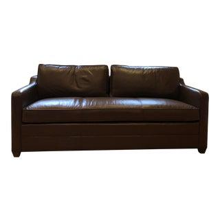 Kravet Leather Sleeper Sofa For Sale